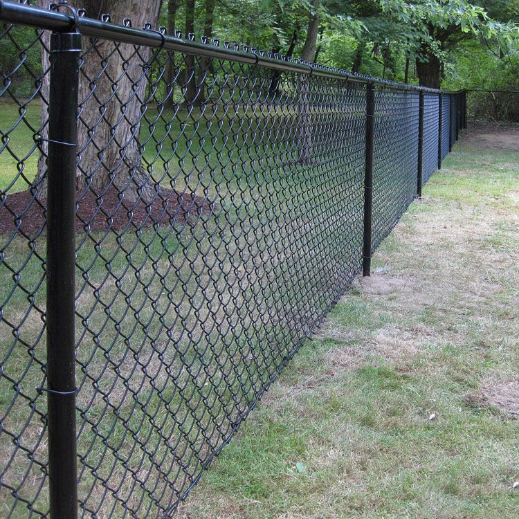 black chain link fence four feet tall surrounding a yard