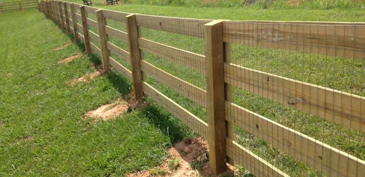 corral fence with added wire mesh