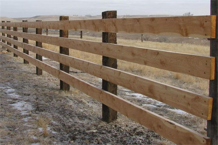 corral fence surrounding a pasture