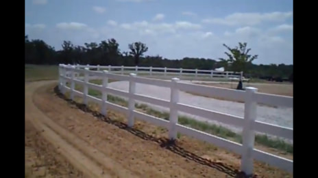 driveway lined with ranch rail fencing
